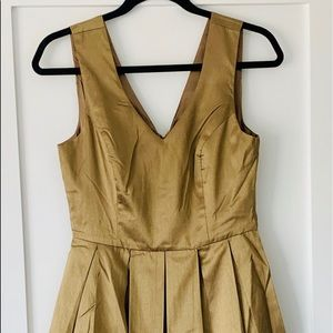 For the  holidays!  Gold ModCloth  party dress